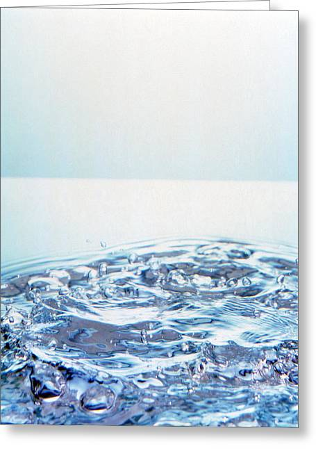 Churning Water Bubbles In Bright Light Greeting Card