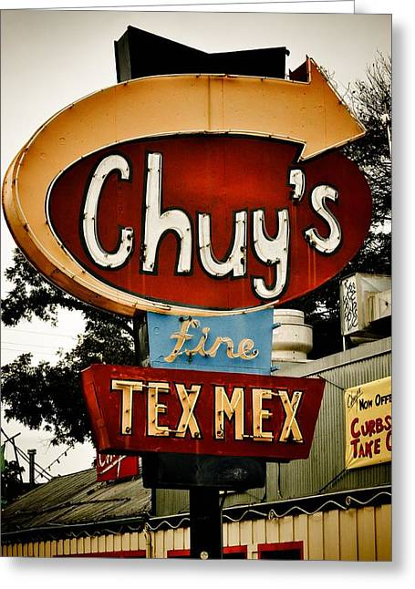 Chuy's Sign 2 Greeting Card