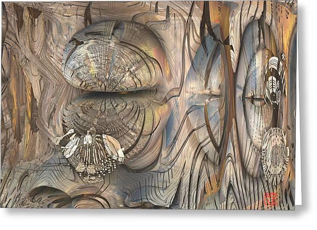 Cicada Greeting Card by David Jenkins