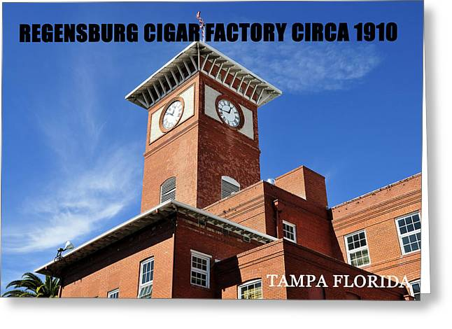 Cigar Factory 1910 Greeting Card