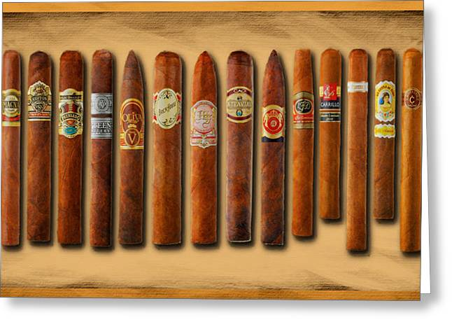 Cigar Sampler Painting Greeting Card