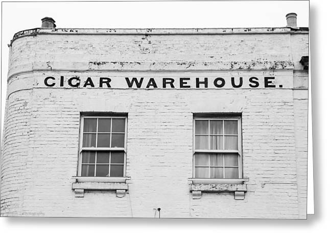 Greeting Card featuring the photograph Cigar Warehouse by Ross Henton