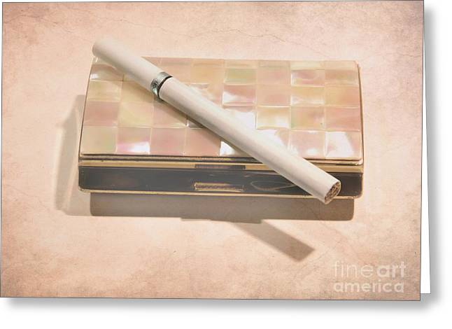 cigarette and Antique Case Greeting Card by Sophie Vigneault