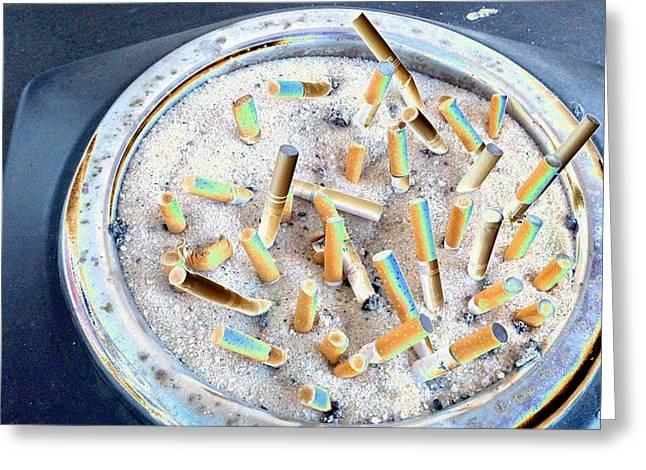 Cigarette Club Greeting Card by Mark C Ettinger
