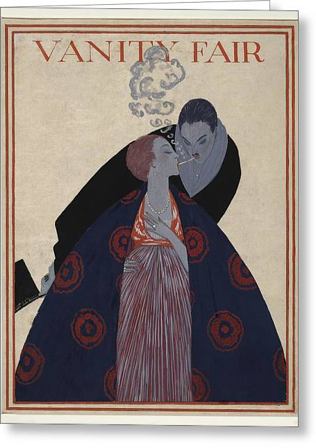 Cigarette Couple, 1919 Vanity Fair Greeting Card by Science Photo Library