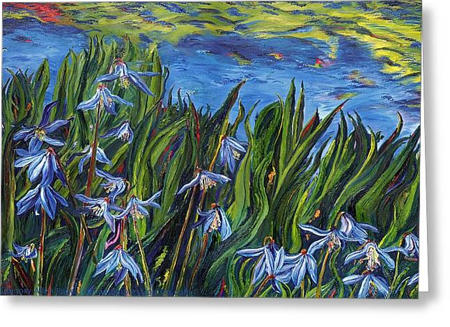 Cilia Flowers Greeting Card by Gregory Allen Page