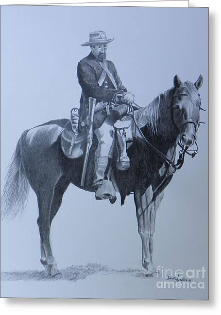Cilvil War Soldier   Two Greeting Card