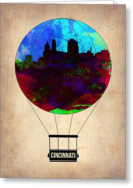 Cincinnati Air Baloon Greeting Card by Naxart Studio