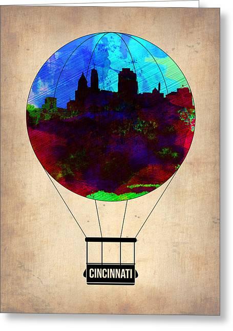 Cincinnati Air Baloon Greeting Card