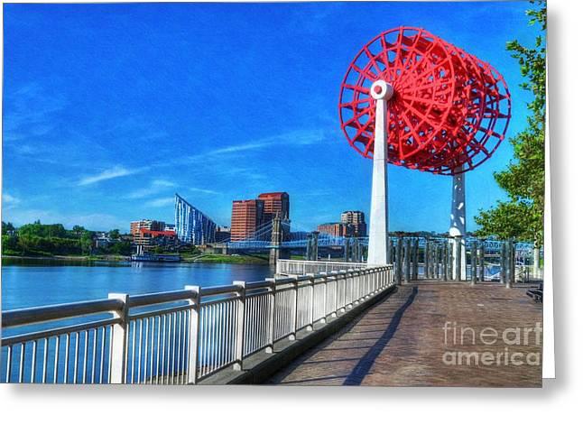 Cincinnati Big Wheel 2 Greeting Card by Mel Steinhauer