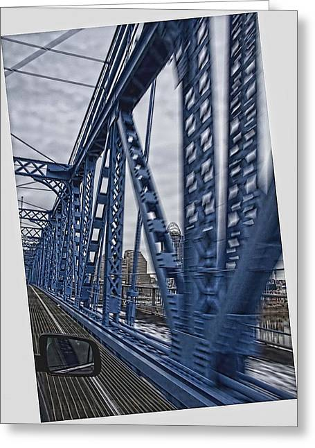 Cincinnati Bridge Greeting Card