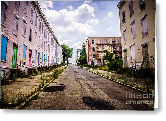 Cincinnati Glencoe-auburn Place Image Greeting Card by Paul Velgos
