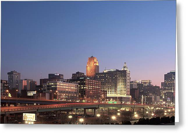 Cincinnati In Morning Twilight Greeting Card