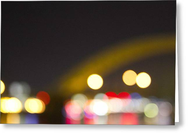 Cincinnati Night Lights Greeting Card