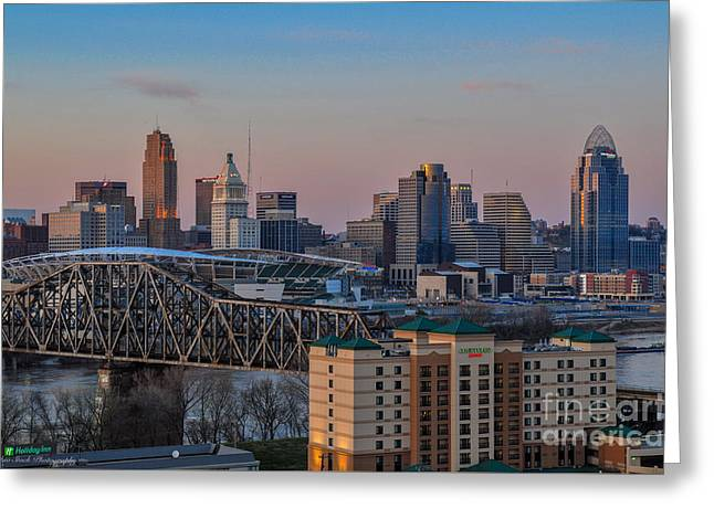 D9u-876 Cincinnati Ohio Skyline Photo Greeting Card