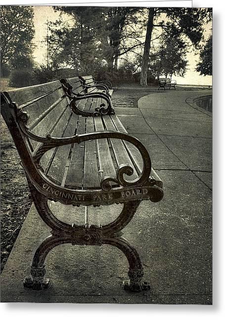 Cincinnati Park Board Bench At Eden Park Greeting Card