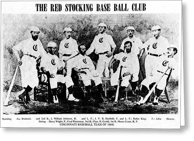 Cincinnati Red Stocking Baseball Team Greeting Card