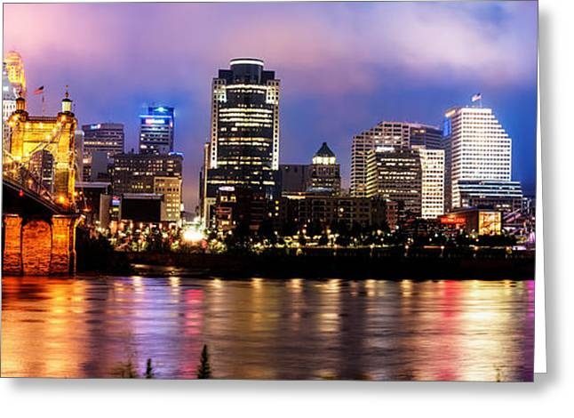 Cincinnati Skyline Panorama Greeting Card