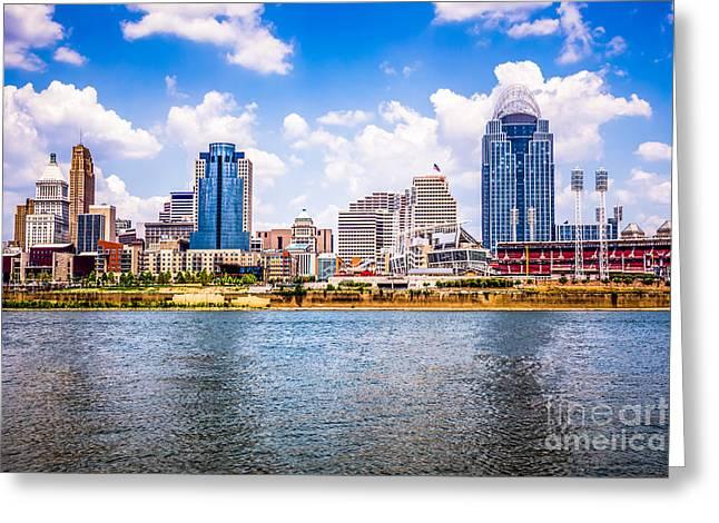 Cincinnati Skyline Photo Greeting Card
