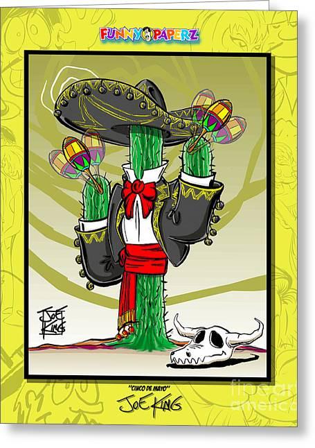Cinco De Mayo Greeting Card by Joe King