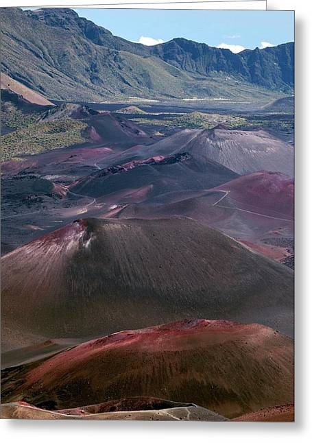 Cinder Cones In Haleakala Crater Greeting Card by Kaj R. Svensson