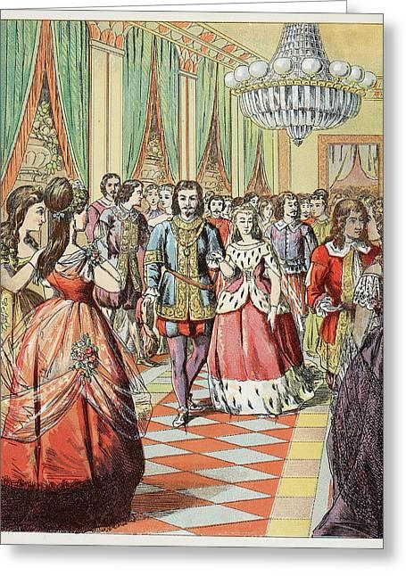 Cinderella At The Ball Greeting Card by British Library