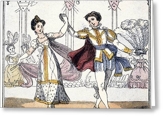 Cinderella At The Ball Greeting Card by Granger