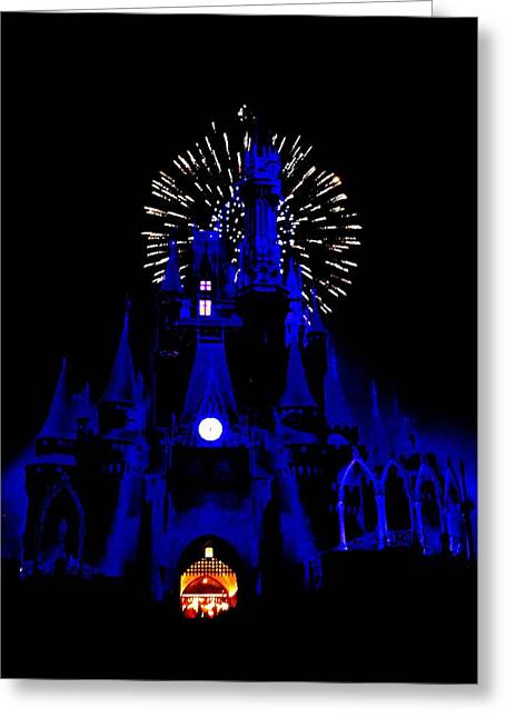 Cinderella Castle Fireworks Greeting Card by Benjamin Yeager