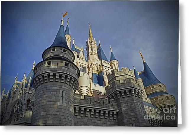 Cinderella Castle - Walt Disney World Greeting Card by AK Photography