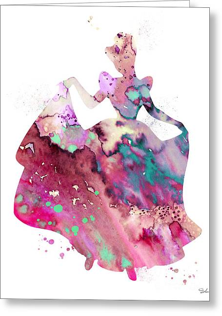 Cinderella Greeting Card by Watercolor Girl