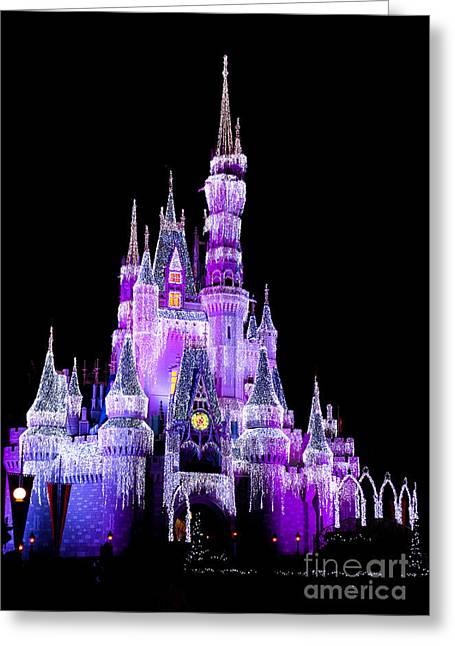 Cinderella's Castle Greeting Card by Lisa L Silva