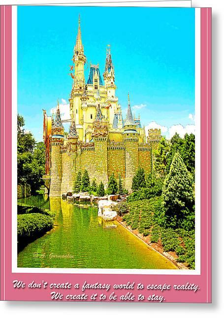 Cinderellas Castle Magic Kingdom Walt Disney World We Create Fan Greeting Card