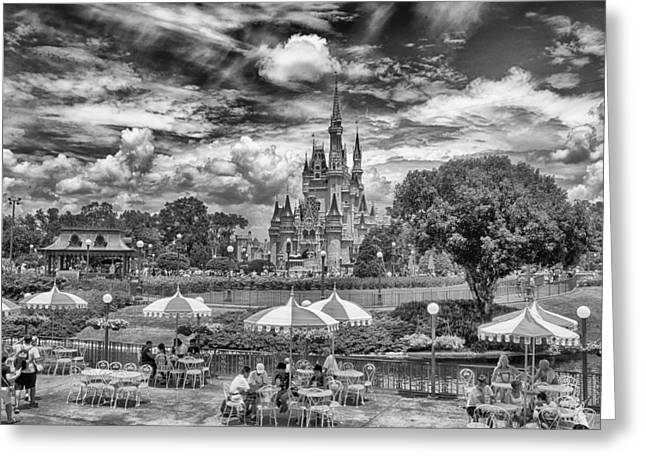 Greeting Card featuring the photograph Cinderella's Palace by Howard Salmon