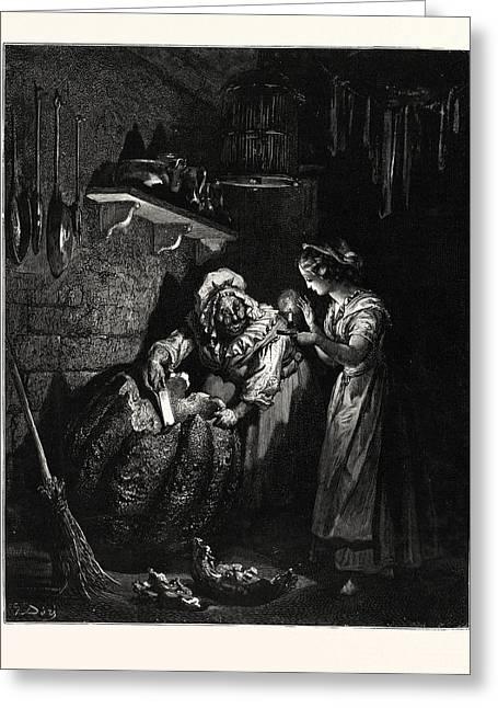 Cinderellas Pumpkin. Cinderella, Or The Little Glass Slipper Greeting Card
