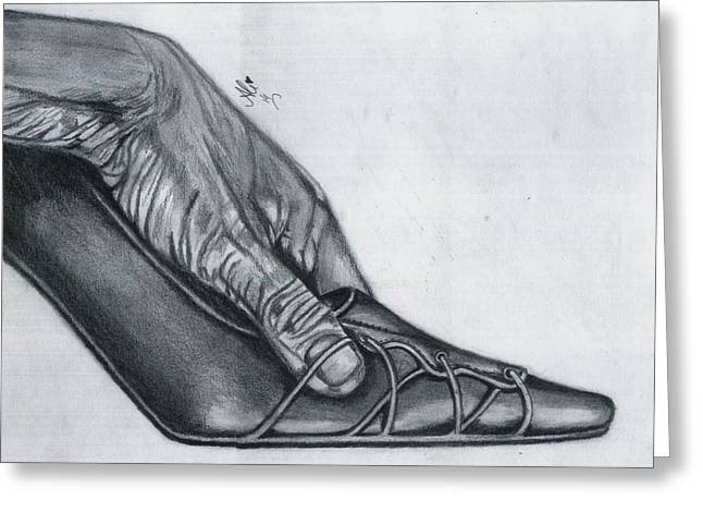 Cindrella's Shoe Greeting Card by Bobby Dar