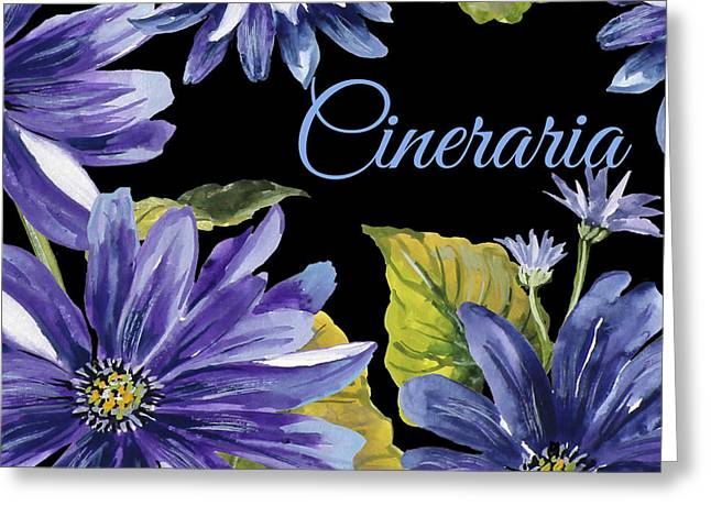 Cineraria-jp2594 Greeting Card by Jean Plout