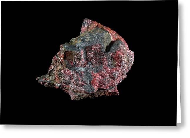 Cinnabar Greeting Card by Science Photo Library
