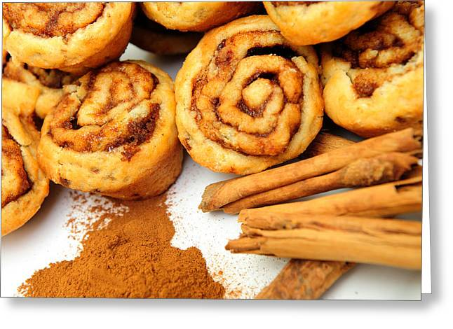 Cinnamon And Rolls Greeting Card by Don Bendickson