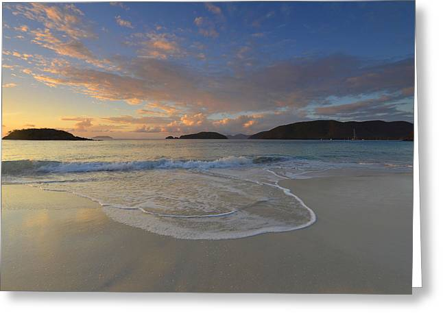 Cinnamon Bay At Sunset Greeting Card by Stephen  Vecchiotti