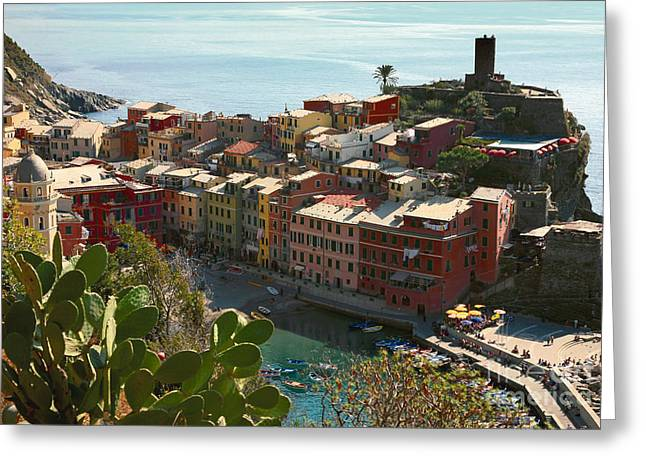 Cinque Terra Vernazza Greeting Card by Kate McKenna