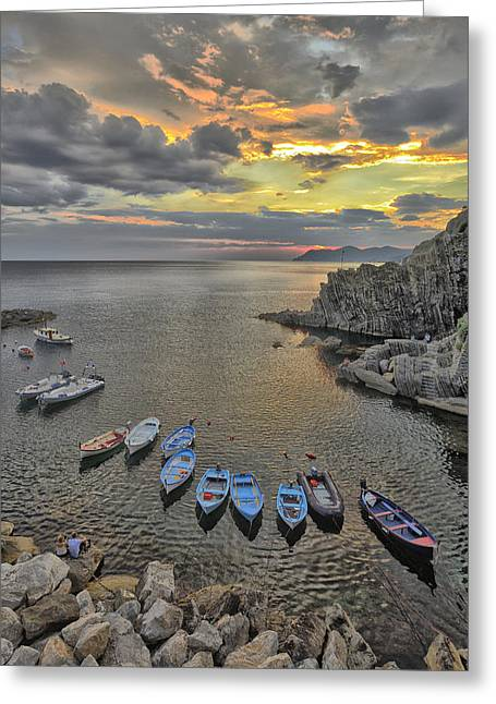Cinque Terre Coast  Greeting Card by Christian Heeb