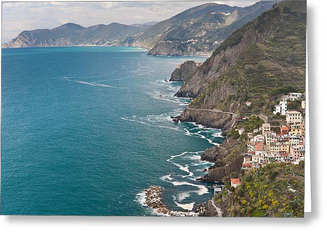 Cinque Terre Coast View Greeting Card by Mike Reid