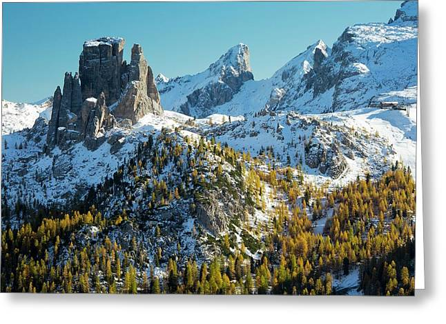 Cinque Torri And Torre Grande Greeting Card