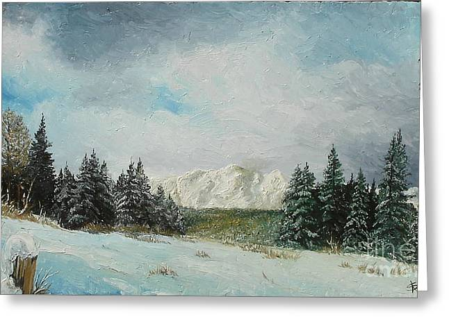 Greeting Card featuring the painting Cioplea by Sorin Apostolescu