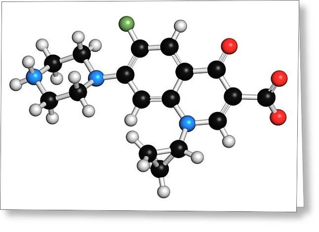 Ciprofloxacin Antibiotic Molecule Greeting Card by Molekuul