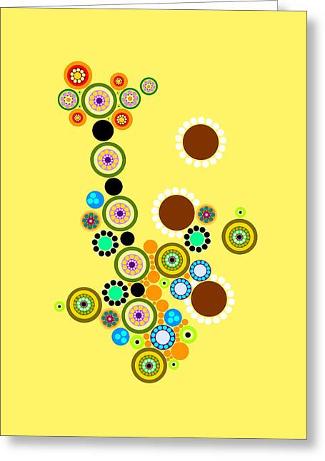 Circle Motif 247 Greeting Card by John F Metcalf