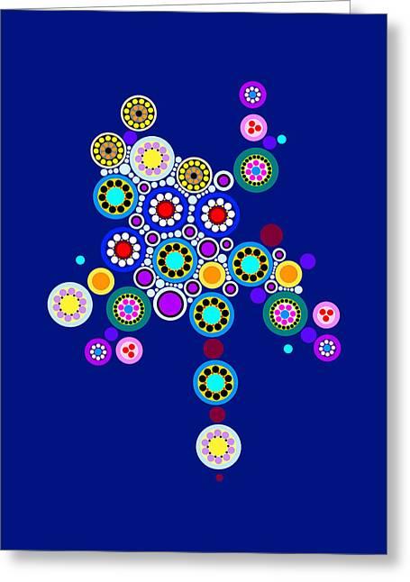 Circle Motif 249 Greeting Card by John F Metcalf