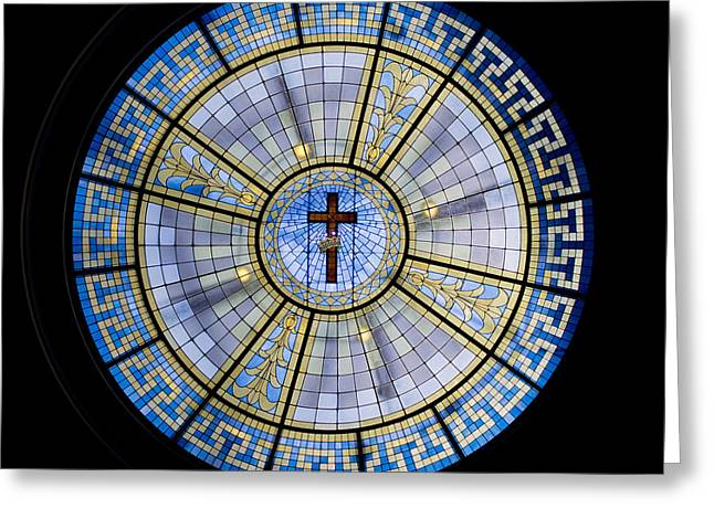 Circle Of Christ Greeting Card by Dee  Savage
