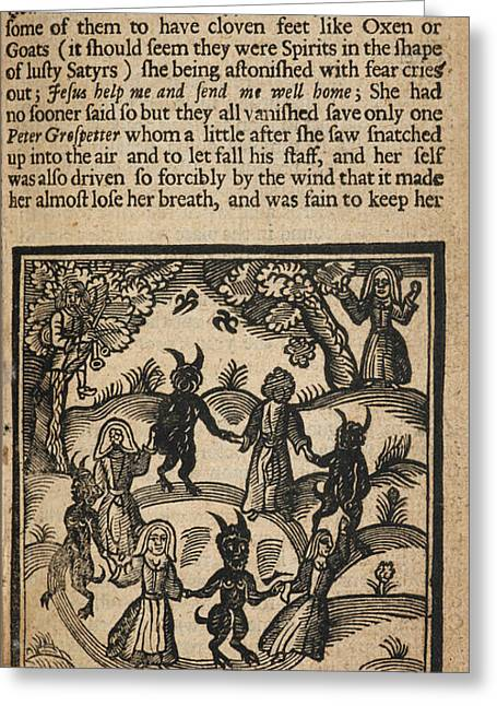Circle Of Humans And Demons Greeting Card by British Library