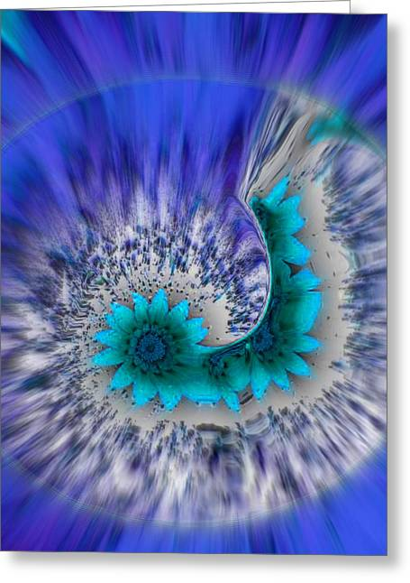 Circle Of Passionate Blue Greeting Card